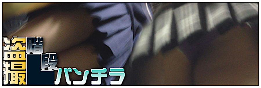 盗撮AV:追い撮り!!階段パンチラ:丸見えまんこ