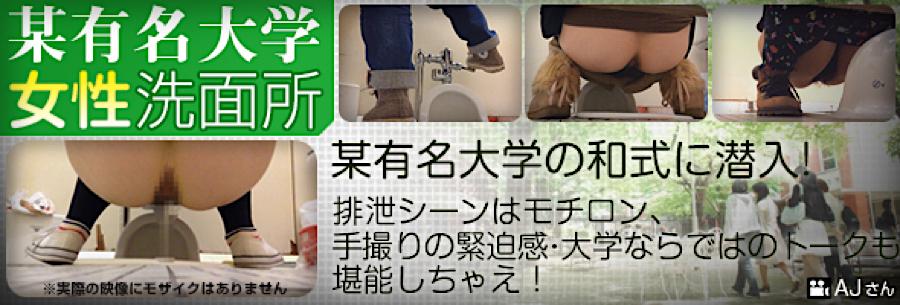 盗撮AV:某有名大学女性洗面所:無毛まんこ
